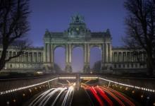Brussel - Jubelpark bij blauw uurtje