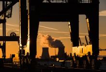 Antwerpen - de haven met zicht op Doel