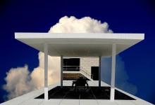Huis in de wolken